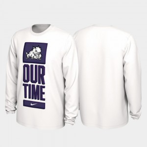 TCU Horned Frogs 2020 March Madness Our Time Bench Legend For Men T-Shirt - White