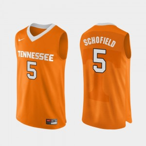 #5 Admiral Schofield Tennessee Volunteers Authentic Performace College Basketball For Men Jersey - Orange
