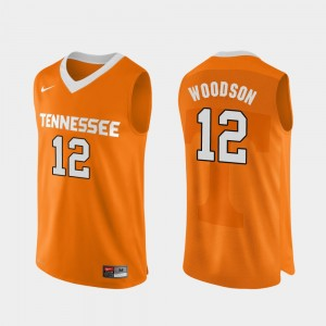 #12 Brad Woodson Tennessee Volunteers For Men's College Basketball Authentic Performace Jersey - Orange