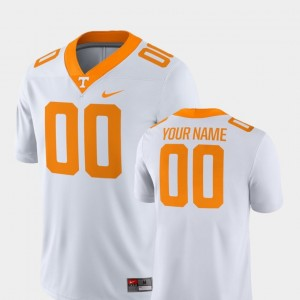 #00 Tennessee Volunteers For Men College Football 2018 Game Custom Jersey - White