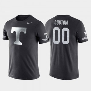 #00 Tennessee Volunteers College Basketball Performance Travel Mens Customized T-Shirt - Anthracite