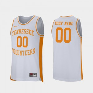 #00 Tennessee Volunteers Retro Performance College Basketball Mens Customized Jerseys - White