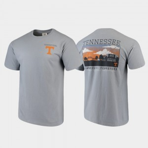 Tennessee Volunteers Campus Scenery For Men Comfort Colors T-Shirt - Gray