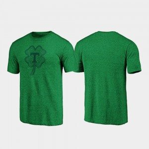 Tennessee Volunteers Celtic Charm Tri-Blend St. Patrick's Day For Men T-Shirt - Green