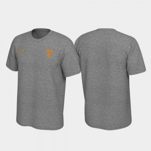 Tennessee Volunteers Left Chest Logo Legend Mens T-Shirt - Heathered Gray