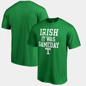 Tennessee Volunteers For Men's St. Patrick's Day Irish It Was Gameday T-Shirt - Kelly Green