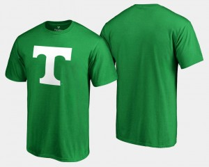 Tennessee Volunteers Mens White Logo Big & Tall St. Patrick's Day T-Shirt - Kelly Green