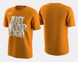Tennessee Volunteers March Madness Selection Sunday Men's Basketball Tournament Just Never Stop T-Shirt - Tennessee Orange
