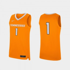 #1 Tennessee Volunteers For Men's College Basketball Replica Jersey - Tennessee Orange