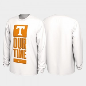 Tennessee Volunteers 2020 March Madness Men's Our Time Bench Legend T-Shirt - White