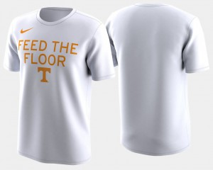 Tennessee Volunteers Basketball Tournament 2018 March Madness Bench Legend Performance For Men's T-Shirt - White