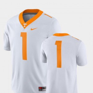 #1 Tennessee Volunteers Men College Football 2018 Game Jersey - White