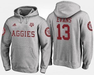 #13 Mike Evans Texas A&M Aggies For Men's Hoodie - Gray