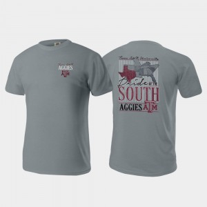 Texas A&M Aggies Pride of the South Comfort Colors For Men's T-Shirt - Gray