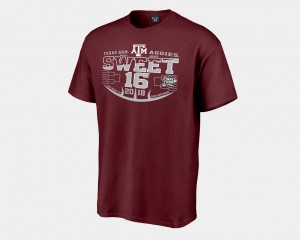Texas A&M Aggies 2018 March Madness Basketball Tournament Sweet 16 Bound Men T-Shirt - Maroon