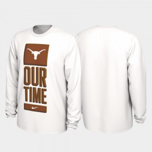 Texas Longhorns Men's 2020 March Madness Our Time Bench Legend T-Shirt - White