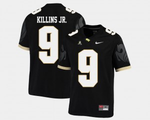 #9 Adrian Killins Jr. UCF Knights College Football American Athletic Conference Men Jersey - Black