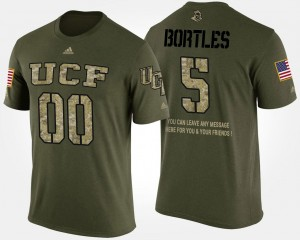 #5 Blake Bortles UCF Knights Short Sleeve With Message Military For Men T-Shirt - Camo