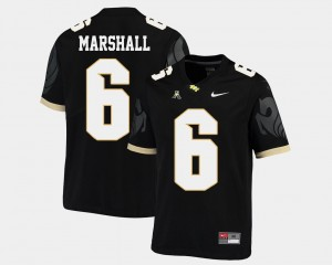 #6 Brandon Marshall UCF Knights Men American Athletic Conference College Football Jersey - Black