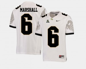 #6 Brandon Marshall UCF Knights Men's College Football American Athletic Conference Jersey - White