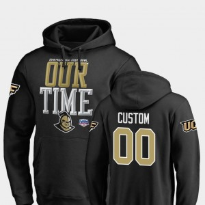 #00 UCF Knights 2019 Fiesta Bowl Bound For Men Counter Customized Hoodie - Black