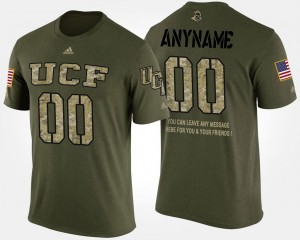 #00 UCF Knights For Men Short Sleeve With Message Military Customized T-Shirt - Camo