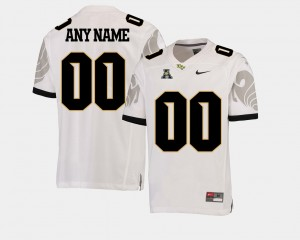 #00 UCF Knights Men American Athletic Conference College Football Custom Jersey - White
