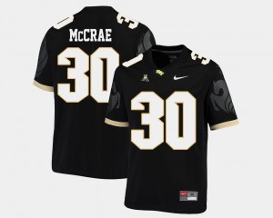 #30 Greg McCrae UCF Knights American Athletic Conference College Football For Men Jersey - Black