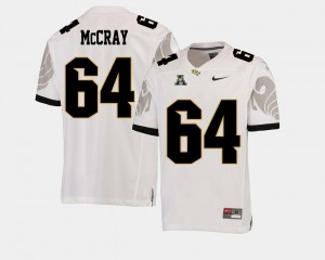#64 Justin McCray UCF Knights College Football American Athletic Conference Men's Jersey - White