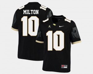 #10 Mckenzie Milton UCF Knights Mens College Football American Athletic Conference Jersey - Black