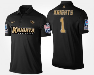 #1 UCF Knights Bowl Game Mens No.1 American Athletic Conference Peach Bowl Polo - Navy