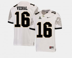 #16 Noah Vedral UCF Knights American Athletic Conference College Football Men Jersey - White