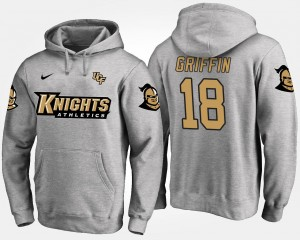 #18 Shaquem Griffin UCF Knights For Men's Hoodie - Gray