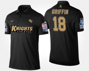 #18 Shaquem Griffin UCF Knights For Men Bowl Game American Athletic Conference Peach Bowl Polo - Navy