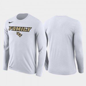 UCF Knights Men's Family on Court March Madness Basketball Performance Long Sleeve T-Shirt - White