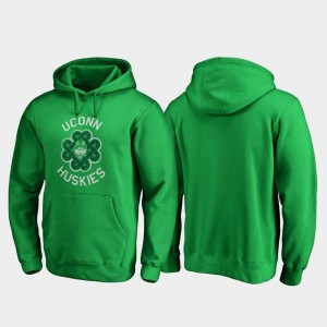 UConn Huskies St. Patrick's Day Mens Luck Tradition Hoodie - Kelly Green
