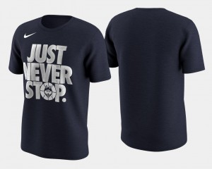 UConn Huskies Basketball Tournament Just Never Stop March Madness Selection Sunday Men's T-Shirt - Navy