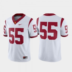 #55 USC Trojans Game Mens College Football Jersey - White