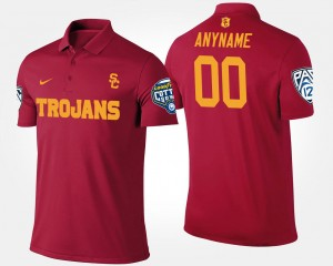#00 USC Trojans Pac-12 Conference Cotton Bowl Bowl Game For Men's Customized Polo - Cardinal