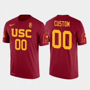 #00 USC Trojans Cotton Football Future Stars For Men's Customized T-Shirts - Red