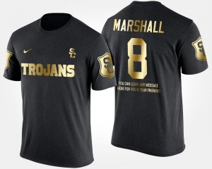 #8 Iman Marshall USC Trojans Gold Limited Short Sleeve With Message For Men T-Shirt - Black