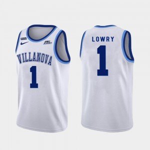 #1 Kyle Lowry Villanova Wildcats Authentic College Basketball For Men's Jersey - White