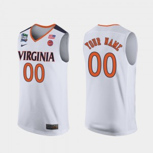 #00 Virginia Cavaliers Mens 2019 Final-Four Customized Jersey - White