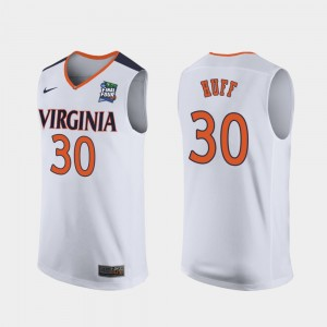 #30 Jay Huff Virginia Cavaliers Replica 2019 Final-Four For Men Jersey - White