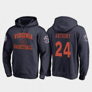 #24 Marco Anthony Virginia Cavaliers In Bounds Mens College Basketball Hoodie - Navy