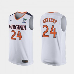#24 Marco Anthony Virginia Cavaliers 2019 Final-Four Replica Men's Jersey - White