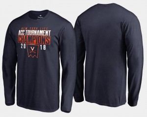 Virginia Cavaliers Basketball Conference Tournament Men 2018 ACC Champions Long Sleeve T-Shirt - Navy