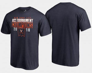 Virginia Cavaliers For Men 2018 ACC Champions Basketball Conference Tournament T-Shirt - Navy