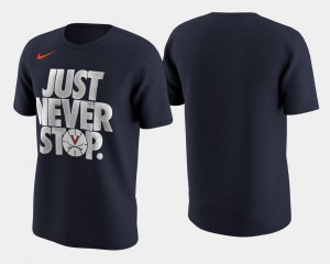 Virginia Cavaliers Basketball Tournament Just Never Stop March Madness Selection Sunday For Men T-Shirt - Navy