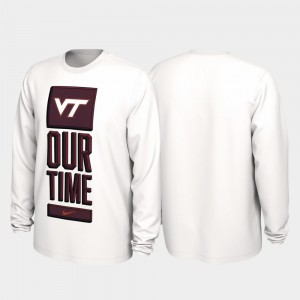 Virginia Tech Hokies 2020 March Madness For Men Our Time Bench Legend T-Shirt - White